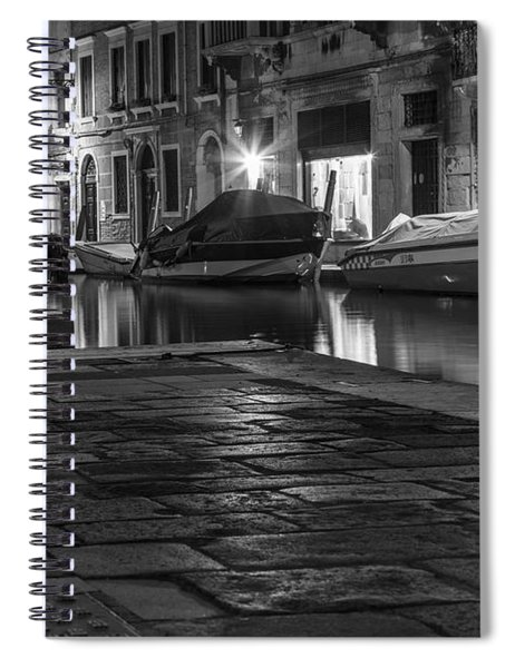 Pathway To The Canal In Venice  Spiral Notebook