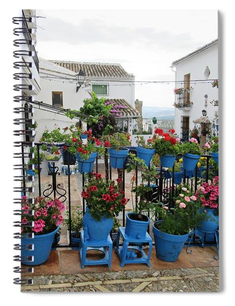 Patio De Las Comedias In Iznajar Spiral Notebook