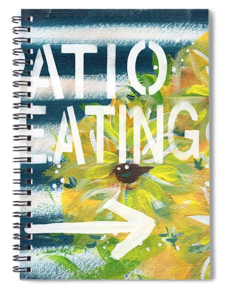 Patio Seating- By Linda Woods Spiral Notebook