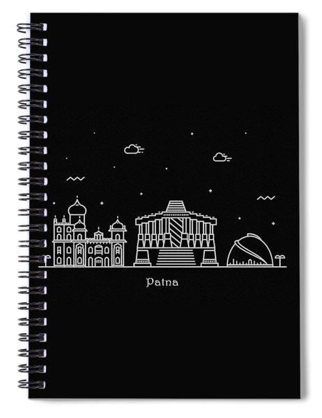 Patna Skyline Travel Poster Spiral Notebook