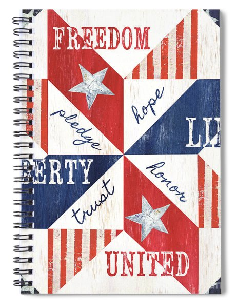 Patriotic Quilt 1 Spiral Notebook