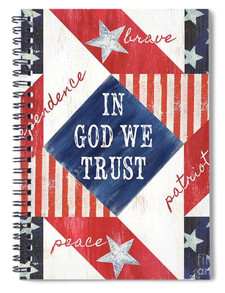 Patriotic Quilt 2 Spiral Notebook