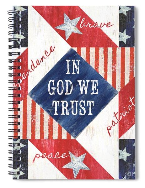 Patriotic Quilt 2 Spiral Notebook