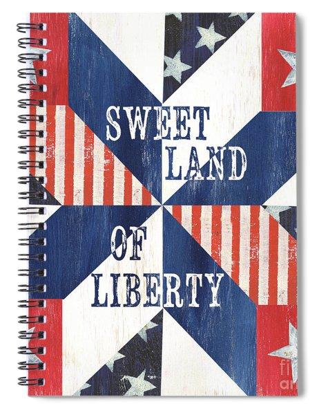 Patriotic Quilt 3 Spiral Notebook