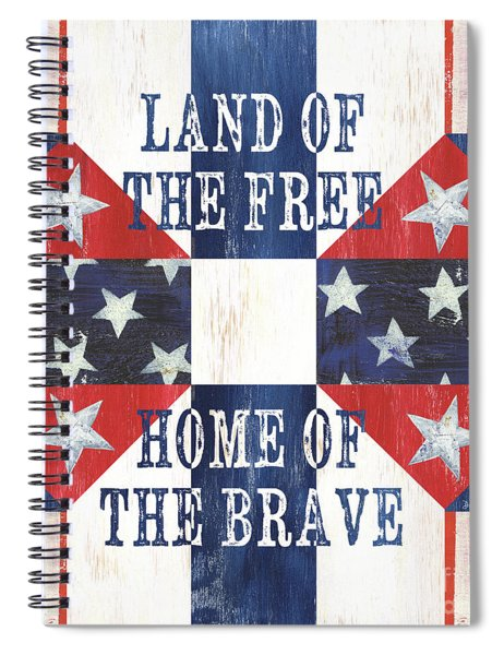 Patriotic Quilt 4 Spiral Notebook