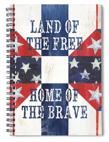 Patriotic Quilt 4 Spiral Notebook