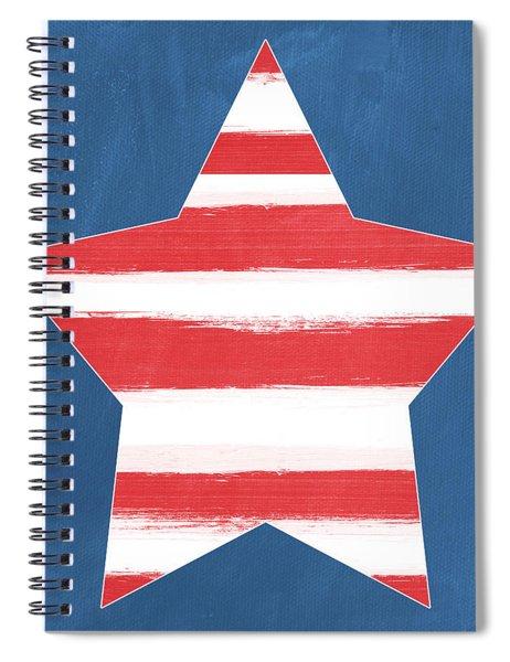 Patriotic Star Spiral Notebook