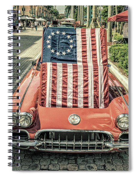 Patriotic Vette Spiral Notebook
