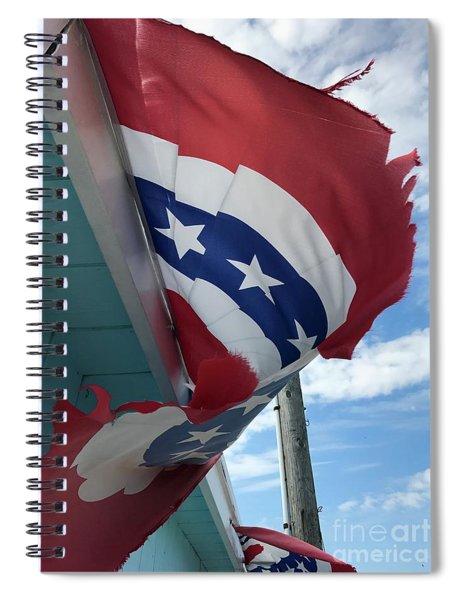Patriotic Wave Spiral Notebook