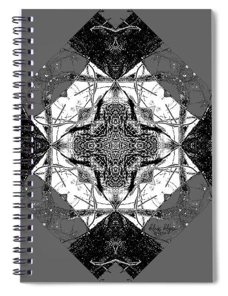 Pattern In Black White Spiral Notebook