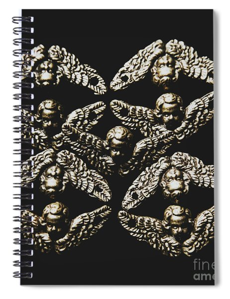 Pattern Of Antique Cupid Angels  Spiral Notebook