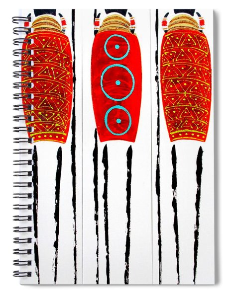 Patterned Masai Triptych Spiral Notebook