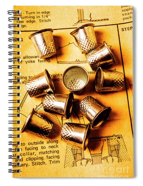 Patterns And Thimbles Spiral Notebook