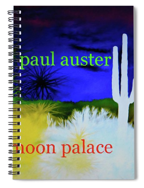 Paul Auster Poster Moon Palace Spiral Notebook