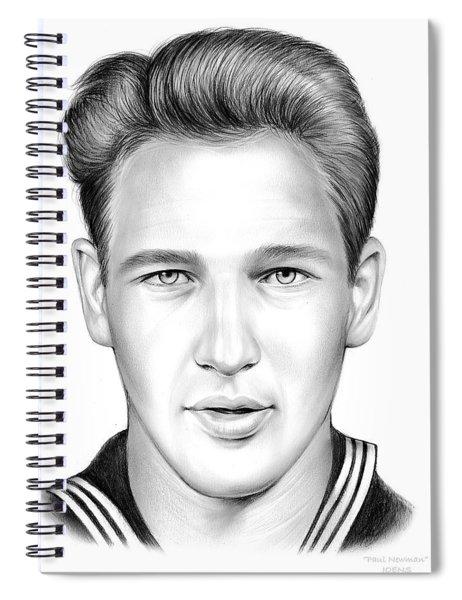 Paul Newman Spiral Notebook