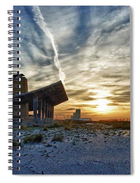 Pavillion And The Beach Spiral Notebook