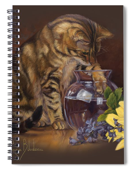 Paw In The Vase Spiral Notebook