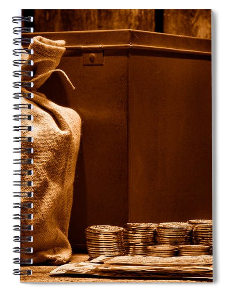 Pay Day - Sepia Spiral Notebook