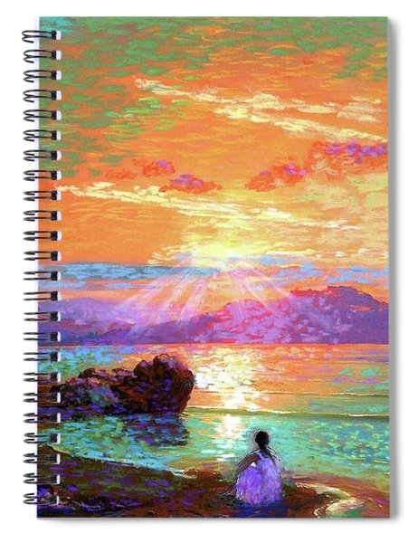 Peace Be Still Meditation Spiral Notebook
