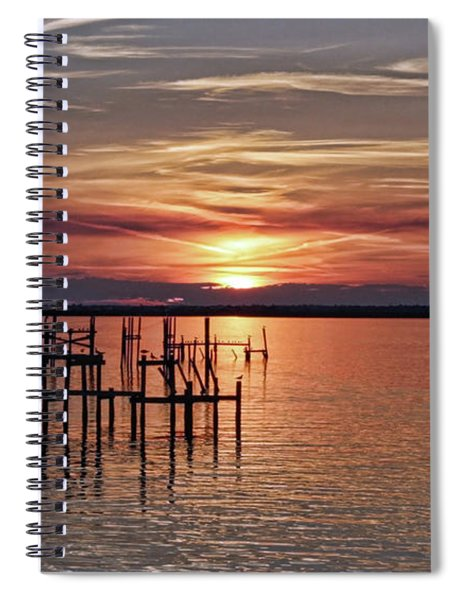 Peace Be With You Sunset Spiral Notebook