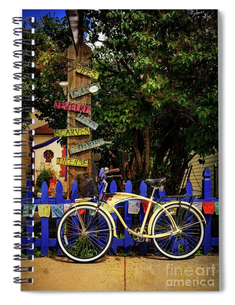 Peace Boho Bicycle Spiral Notebook