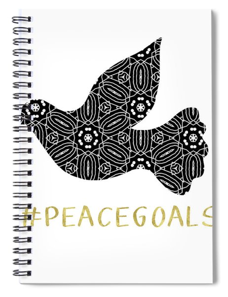 Peace Goals- Art By Linda Woods Spiral Notebook