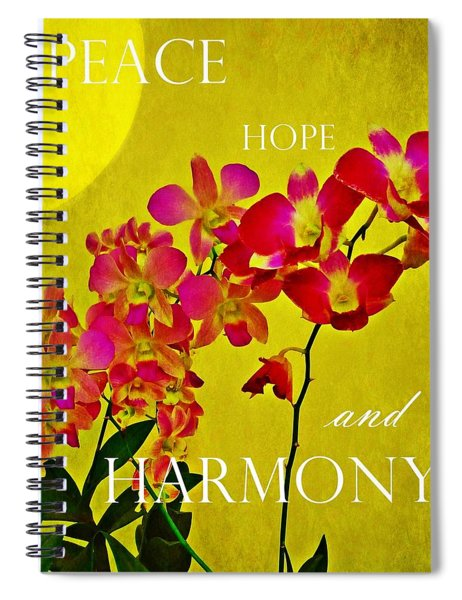 Peace Hope And Harmony Spiral Notebook