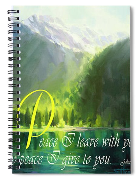 Peace I Give You Spiral Notebook