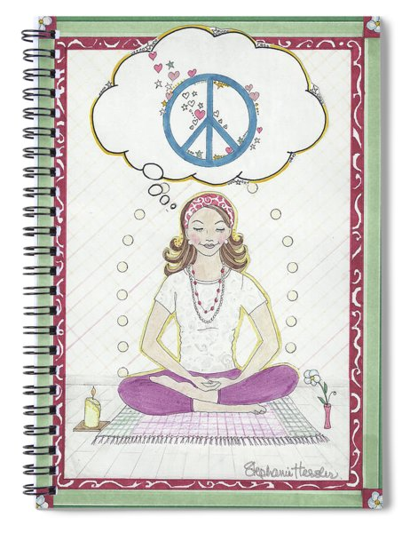 Peace Meditation Spiral Notebook