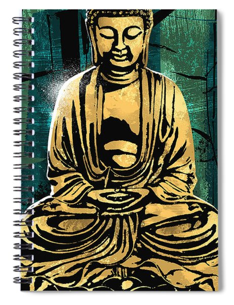 Peace Of Gold Spiral Notebook