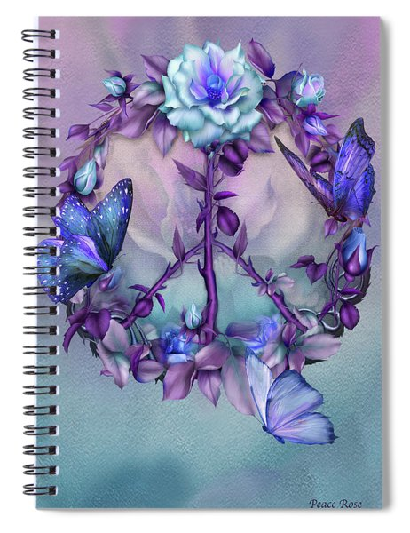 Peace Rose - Blue Spiral Notebook