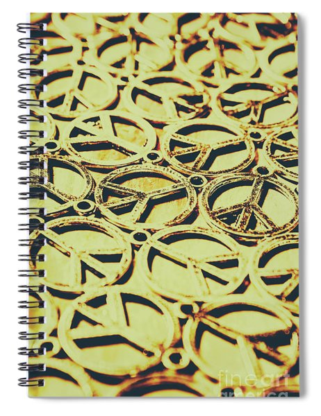 Peace Sign Patterns Spiral Notebook