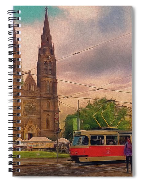 Peace Square Prague Spiral Notebook