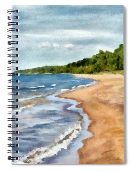 Peaceful Beach At Pier Cove Ll Spiral Notebook