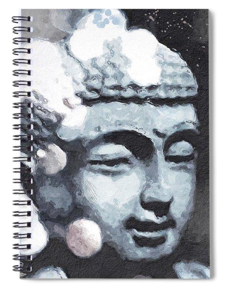 Peaceful Buddha 3- Art By Linda Woods Spiral Notebook