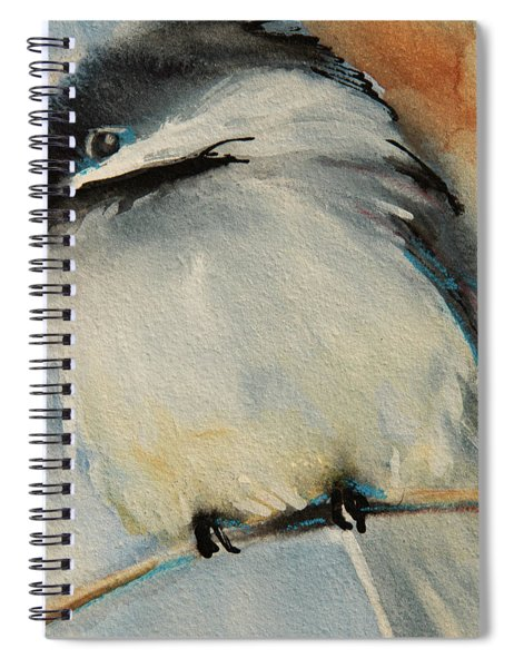 Peaceful Chickadee Spiral Notebook