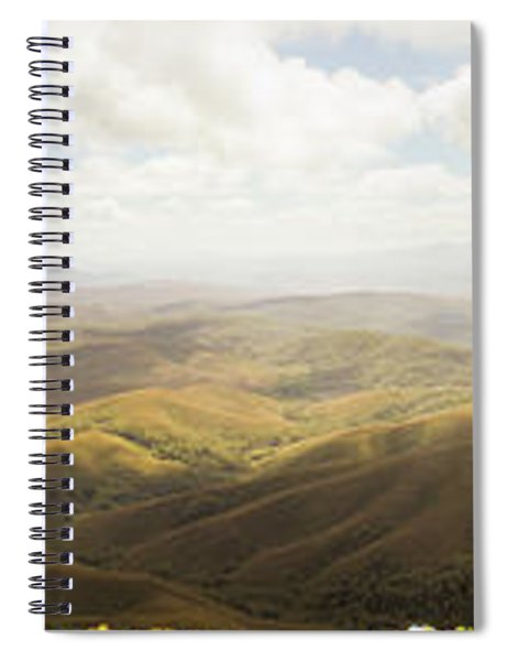 Peaceful Countryside Panorama Spiral Notebook