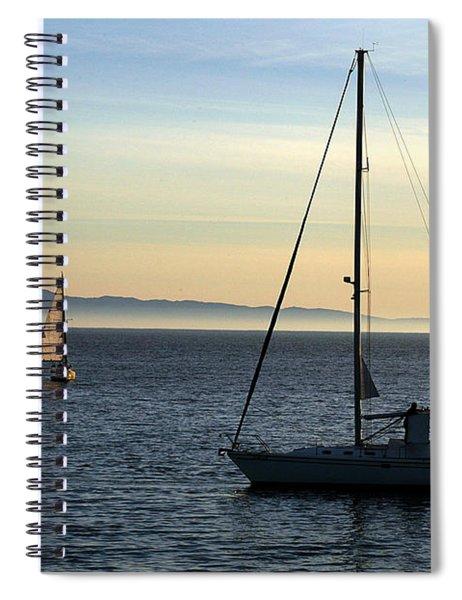 Peaceful Day In Santa Barbara Spiral Notebook