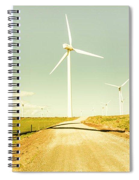Peaceful Pastel Wind Farm Spiral Notebook