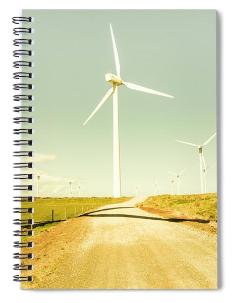 Peaceful Pastel Wind Farm Spiral Notebook