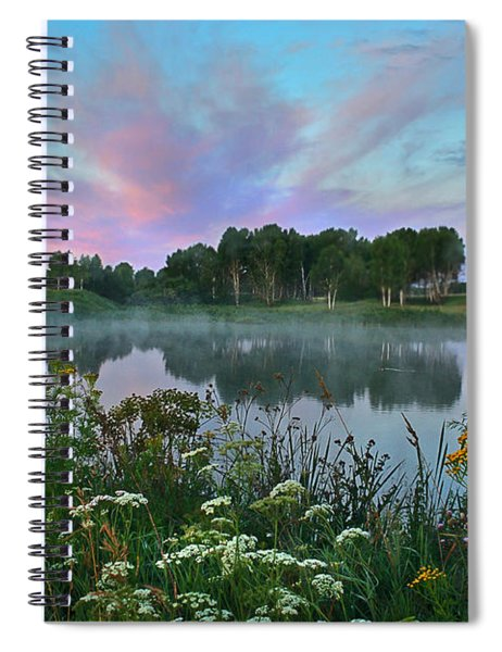 Peaceful Sunrise At Lake. Altai Spiral Notebook