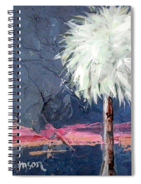 Peachy Horizons Palm Tree Spiral Notebook