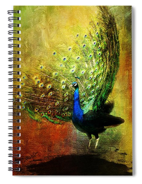 Peacock In Full Color Spiral Notebook