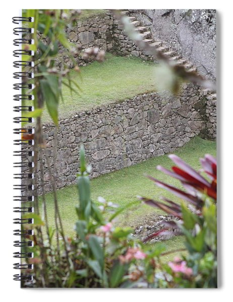Peeking In At Machu Picchu Spiral Notebook