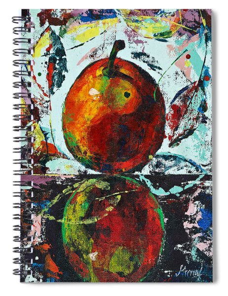 Pear And Reflection Spiral Notebook