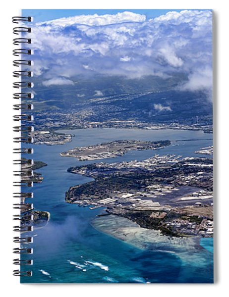 Pearl Harbor Aerial View Spiral Notebook