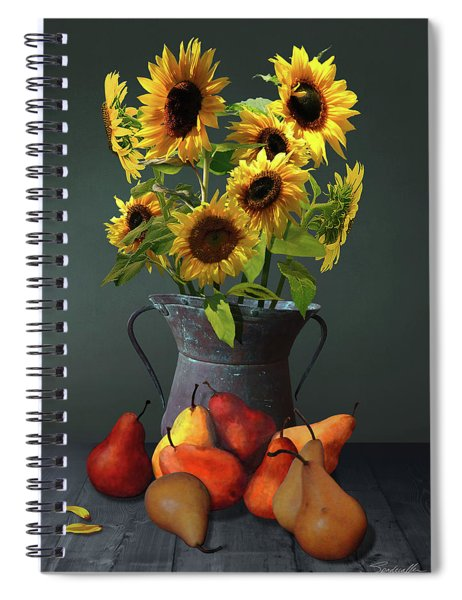 Pears And Sunflowers Spiral Notebook