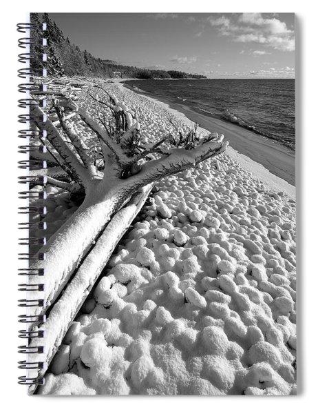 Pebble Beach Winter Spiral Notebook