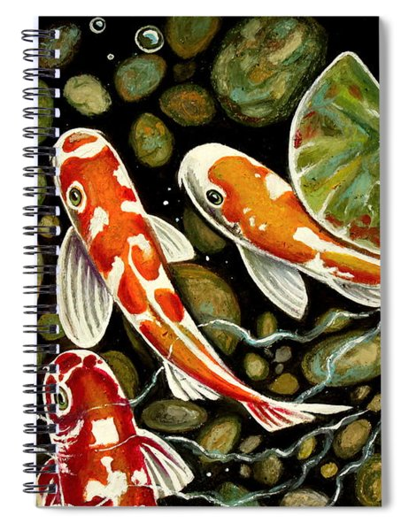 Pebbles And Koi Spiral Notebook