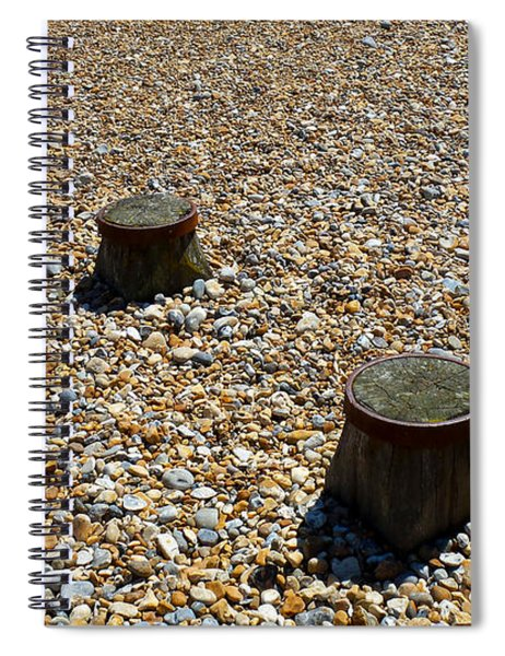 Pebbles And Wood Spiral Notebook